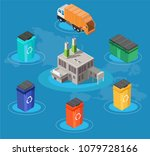 isometric low poly waste...   Shutterstock .eps vector #1079728166