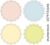 set of 4 very simple round...   Shutterstock .eps vector #1079731646