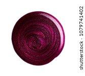 round blot of nail polish... | Shutterstock . vector #1079741402