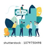 vector illustration  flat style ... | Shutterstock .eps vector #1079750498