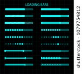 a loading bar. a set of... | Shutterstock .eps vector #1079754812