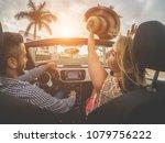 happy people having fun in... | Shutterstock . vector #1079756222
