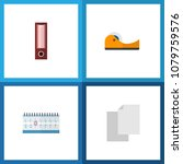 icon flat tool set of adhesive...   Shutterstock .eps vector #1079759576