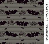 abstract seamless halloween... | Shutterstock .eps vector #1079765975