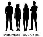 set vector silhouettes men and... | Shutterstock .eps vector #1079775488