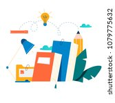 education  online training... | Shutterstock .eps vector #1079775632