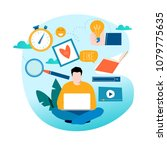 education  online training... | Shutterstock .eps vector #1079775635