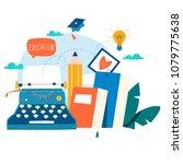 blogging  education  creative... | Shutterstock .eps vector #1079775638