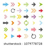 arrow icon collection. vector... | Shutterstock .eps vector #1079778728