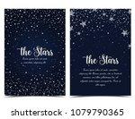 vector illustration of stars on ... | Shutterstock .eps vector #1079790365