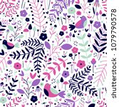 Vector Seamless Pattern Of Navy ...