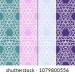set of geometric seamless... | Shutterstock .eps vector #1079800556