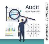 auditing concepts. auditor with ... | Shutterstock .eps vector #1079805518