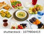 traditional ramadan  iftar ...   Shutterstock . vector #1079806415