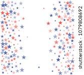 american stars confetti. grunge ...   Shutterstock .eps vector #1079808692