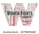 vector conceptual women rights  ... | Shutterstock .eps vector #1079809682