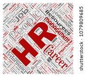 vector concept conceptual hr or ... | Shutterstock .eps vector #1079809685