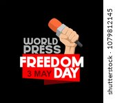 world press freedom day vector... | Shutterstock .eps vector #1079812145