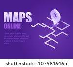 concept online maps. vector... | Shutterstock .eps vector #1079816465