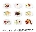 set of various restaurant... | Shutterstock . vector #1079817155
