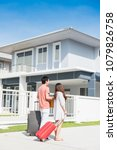 couple buy a new home. moving... | Shutterstock . vector #1079826758