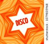 red disco star background   Shutterstock .eps vector #1079835968