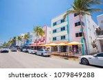 usa. florida. miami beach.... | Shutterstock . vector #1079849288