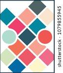 vector mood board   branding... | Shutterstock .eps vector #1079855945