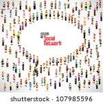 conceptual social networking... | Shutterstock .eps vector #107985596
