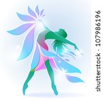 Abstract Dancing Girl With A...