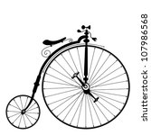 Old Bicycle Template On Clean...