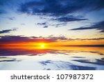 Sea On Sunset. Nature...