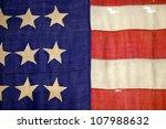 Detail Of A Civil War Flag In...