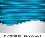 abstract technology blue laser...   Shutterstock .eps vector #1079901275