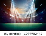 lights at night and stadium 3d... | Shutterstock . vector #1079902442