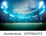 lights at night and stadium 3d... | Shutterstock . vector #1079902472