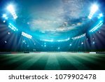 lights at night and stadium 3d... | Shutterstock . vector #1079902478