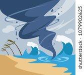 tornado and hurricane... | Shutterstock .eps vector #1079902625