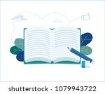year end summary review vector... | Shutterstock .eps vector #1079943722