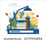education searching vector... | Shutterstock .eps vector #1079943896