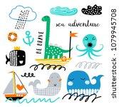 vector set of children's... | Shutterstock .eps vector #1079945708