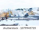 mammoth hot spring in north... | Shutterstock . vector #1079945735