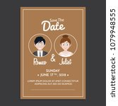 wedding invitation design... | Shutterstock .eps vector #1079948555