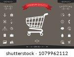 shopping cart icon  shopping... | Shutterstock .eps vector #1079962112
