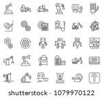 thin line icon set   card...   Shutterstock .eps vector #1079970122