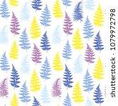 fern frond herbs  tropical... | Shutterstock .eps vector #1079972798