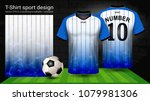 soccer jersey and t shirt sport ... | Shutterstock .eps vector #1079981306