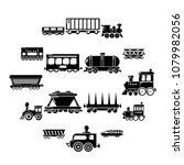 railway carriage icons set....   Shutterstock .eps vector #1079982056