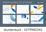 design set of abstract double... | Shutterstock .eps vector #1079982242