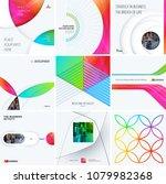 design set of colourful... | Shutterstock .eps vector #1079982368